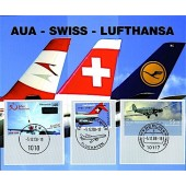 "Triple - Folder ""Lufthansa - Swiss - AUA"""