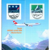 Folder Swiss - Jungfernflug A340